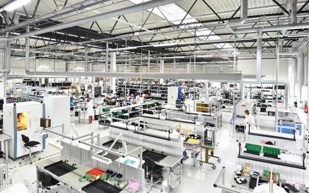 Hexa a large and white engineering factory floor